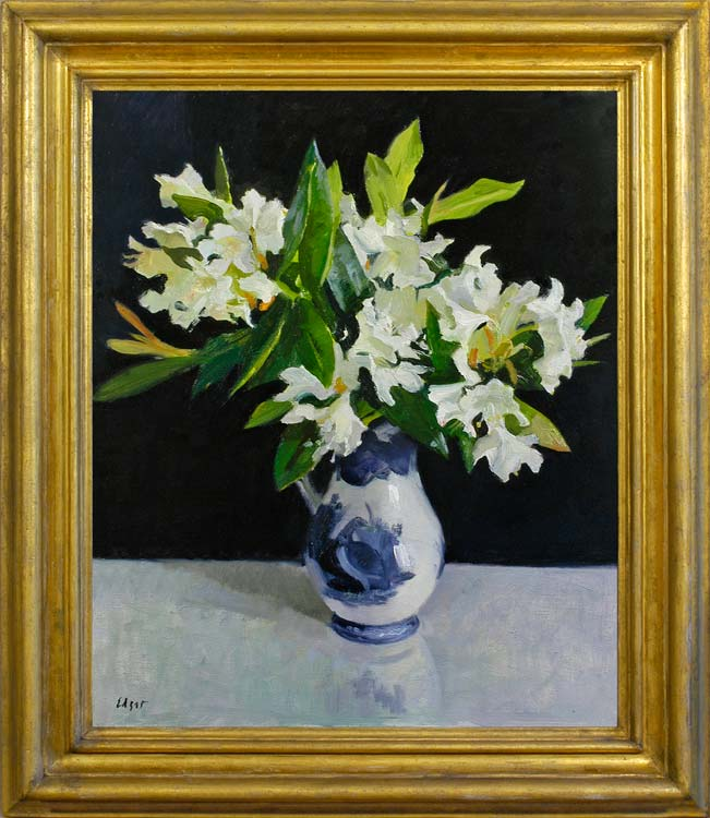 NORMAN EDGAR White rhododendrons