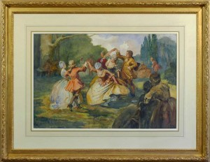 ALBERT LUDOVICI, JNR. Monsieur Coulon's dancing class