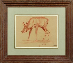 GEORGES FELDKIRCHNER Study of a fawn