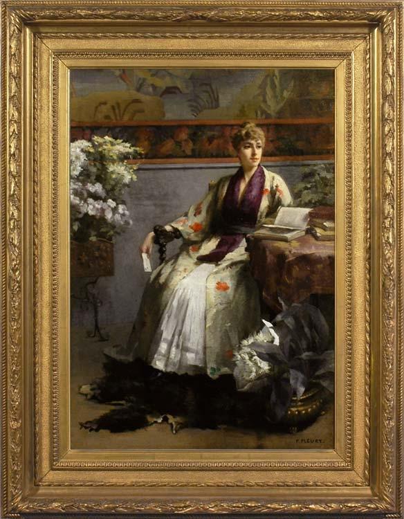 FANNY FLEURY Woman reading