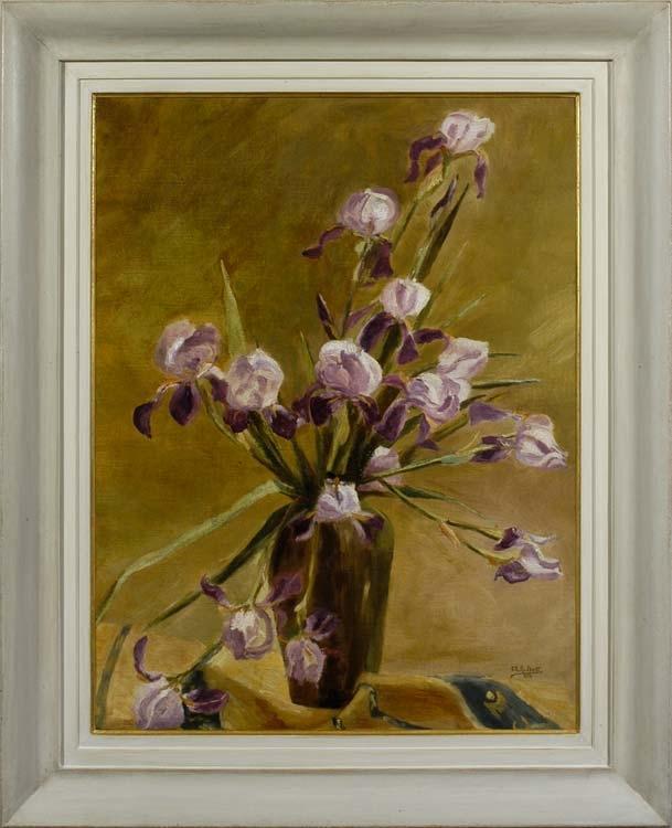 ALICE HALKETT  A vase of iris