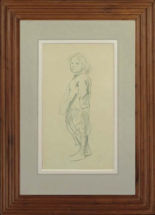 AUGUSTUS JOHN Drawing of Pyramus John