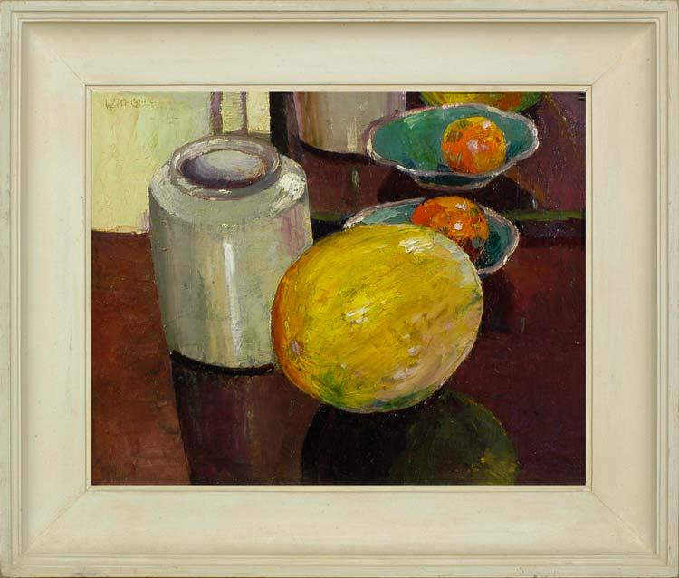 WILLIAM McCANCE Still life with a melon