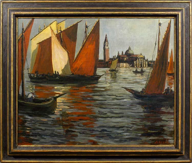 FRITZ SCHERER Venice: View of the Bacino looking towards San Giorgio