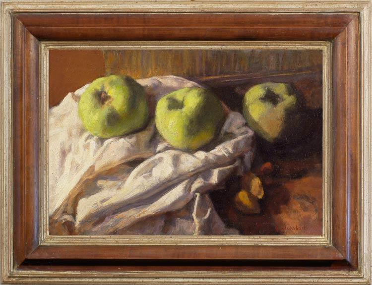 Weissbort George still life with three bramley apples