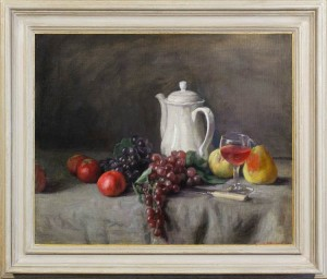 weissbort george the white coffee pot with fruit and wine