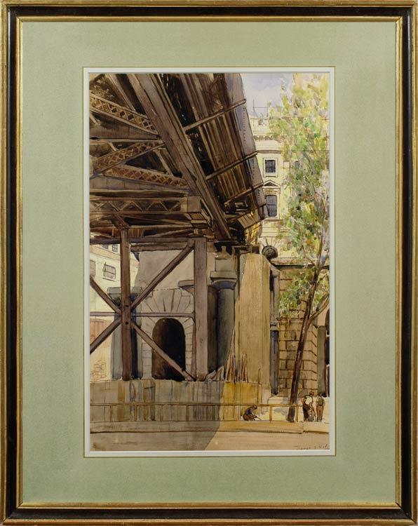 DENYS GEORGE VESEY WELLS Demolition of Waterloo Bridge