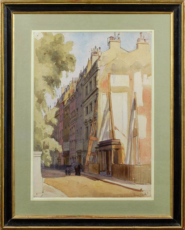 DENYS GEORGE VESEY WELLS London street scene